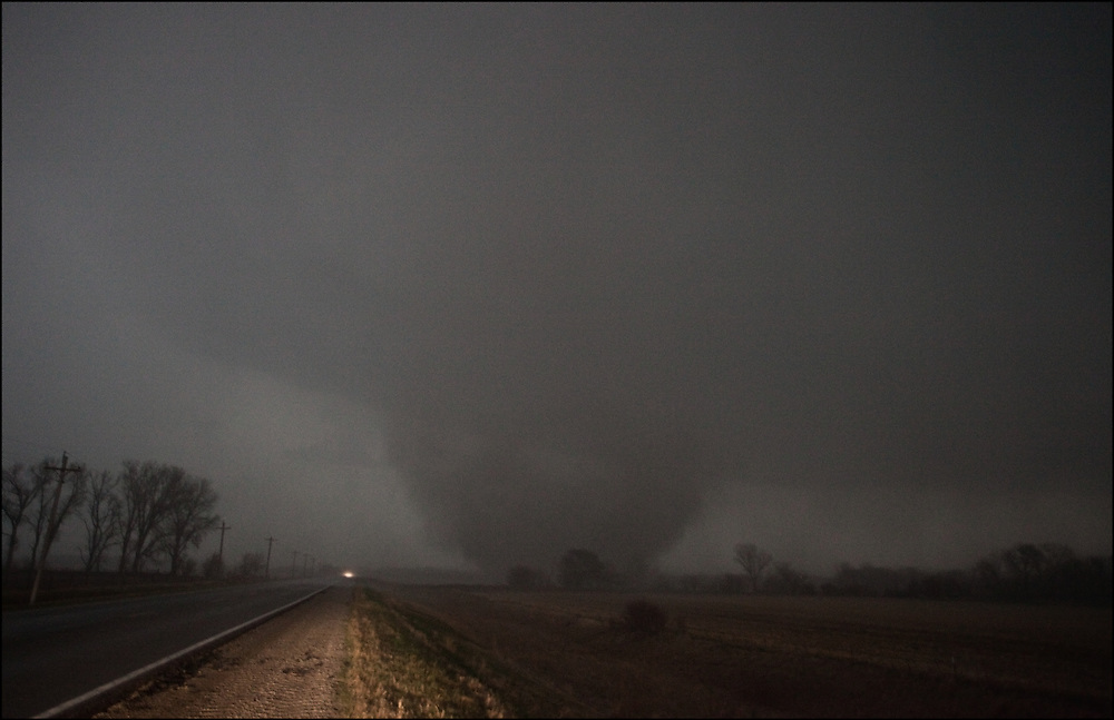 EF-3 tornado wrapping in rain near Mapleton, Iowa.