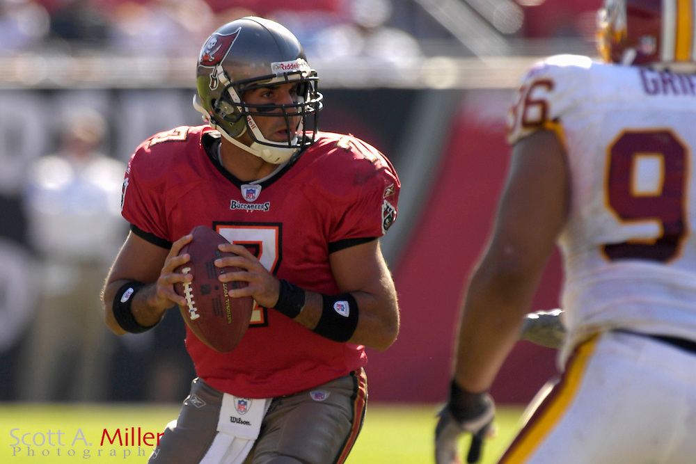 Nov. 19, 2006; Tampa, FL, USA;  Tampa Bay Buccaneers quarterback (7) Bruce Gradkowski in action against the Washington Redskins at Raymond James Stadium. ...©2006 Scott A. Miller