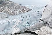 Bergsteiger auf der Rhône Gletscher