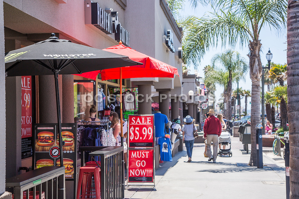 Restaurants and Shopping Downtown Huntington Beach California