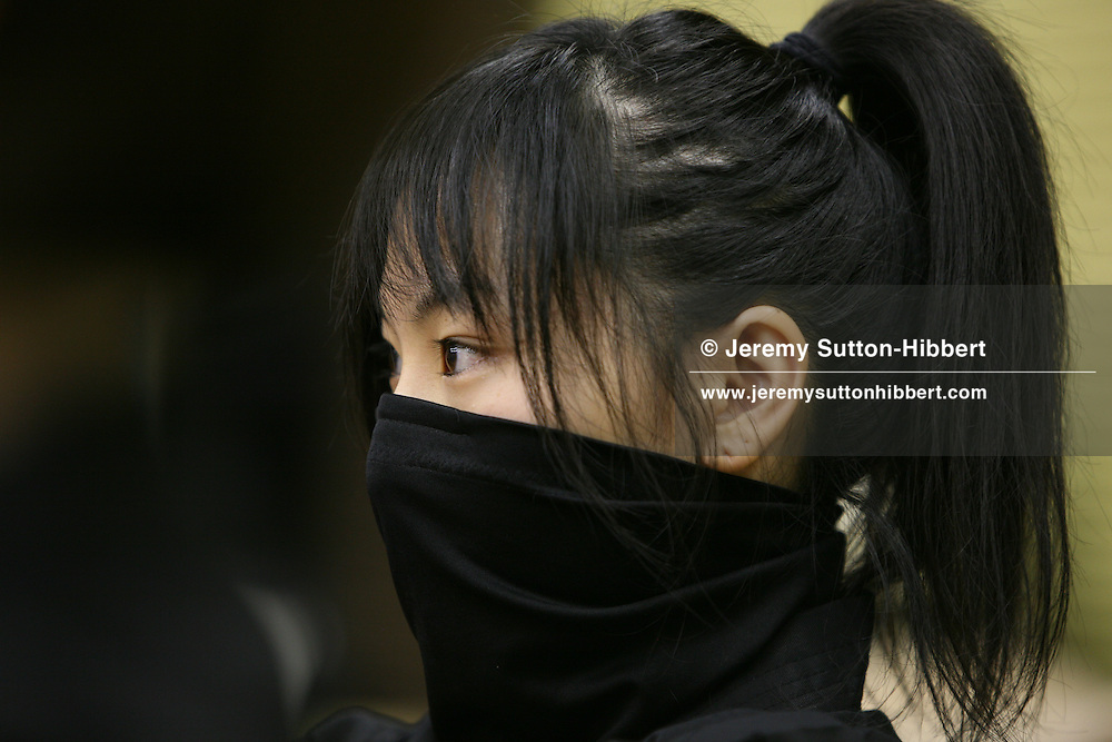 A modern day female ninja, from the Keizan group, in the Keizankai Dojo, in Ikebukuro district of Tokyo, Japan, Wednesday, March 25, 2009.