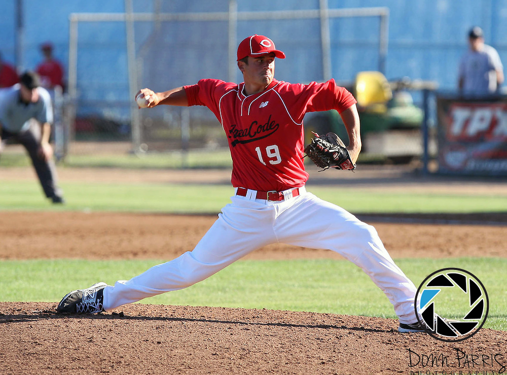 Brady Corless 2012 Area Code Baseball, Blair Field, Aug 5 2012, Long Beach CA (Donn Parris)