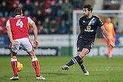 Danny Graham (Blackburn Rovers) passes the ball to his right in midfield during the EFL Sky Bet Championship match between Rotherham United and Blackburn Rovers at the AESSEAL New York Stadium, Rotherham, England on 11 February 2017. Photo by Mark P Doherty.