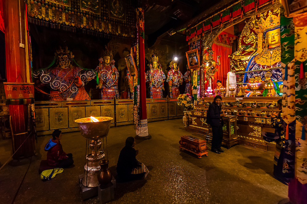 Samye Monastery, Chatang, Lhoka (Shannan) Prefecture, Tibet (Xizang), China. Samye is the first Buddhist monastery built in Tibet.