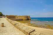 Israel, Acre, Sea Wall promenade