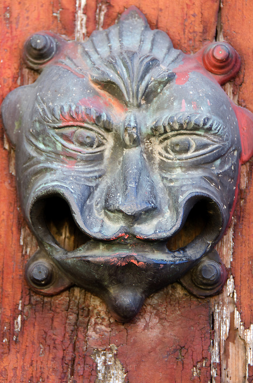A cast iron door knocker in Oaxaca, Mexico.