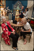 LADY AIRLIE; MELISSA WYNDHAM, Nicky Haslam hosts a party to launch a book by  Maureen Footer 'George Stacey and the Creation of American Chic' . With a foreword by Mario Buatta. Kensington. London. 11 June 2014