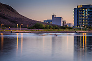 Rowing at twilight in Tempe Town Lake