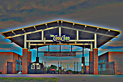 30 May 2014:   Corn Crib Stadium on the campus of Heartland Community College in Normal Illinois<br /> <br /> This image was produced in part utilizing High Dynamic Range (HDR) processes.  It should not be used editorially without being listed as an illustration or with a disclaimer.  It may or may not be an accurate representation of the scene as originally photographed and the finished image is the creation of the photographer.