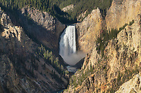 Lower Falls of the Yellowstone River seen from Artist Point, Yellowstone National Park