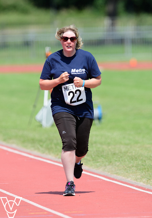 Metro Blind Sport's 2017 Athletics Open held at Mile End Stadium.  800m.  Ruth Stacey<br /> <br /> Picture: Chris Vaughan Photography for Metro Blind Sport<br /> Date: June 17, 2017