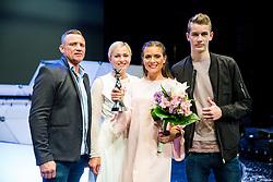 Winner Manca Šepetavc with her family during Miss sports event, on April 22, 2017 in Cankarjev dom, Ljubljana, Slovenia. Photo by Vid Ponikvar / Sportida