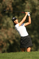 March 26, 2005; Rancho Mirage, CA, USA;  15 year old amateur Michelle Wie hits out of the rough on the 2nd hole during the 3rd round of the LPGA Kraft Nabisco golf tournament held at Mission Hills Country Club.  Wie shot a 1 over par 73 for the day and was tied for 21st at one over par 217.<br />Mandatory Credit: Photo by Darrell Miho <br />&copy; Copyright Darrell Miho