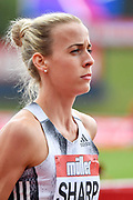 Lynsey Sharp (GBR) during the Birmingham Grand Prix, Sunday, Aug 18, 2019, in Birmingham, United Kingdom. (Steve Flynn/Image of Sport via AP)