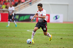 BANGKOK, THAILAND - Sunday, July 28, 2013: Liverpool's Philippe Coutinho Correia in action against Thailand XI during a preseason friendly match at the Rajamangala National Stadium. (Pic by David Rawcliffe/Propaganda)