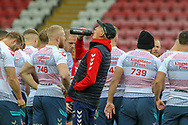 Coach Wayne Bennett takes a drink during the RFL England Captain's Run at Leigh Sports Village, Leigh<br /> Picture by Steve McCormick/Focus Images Ltd 07545 862647<br /> 16/10/2018