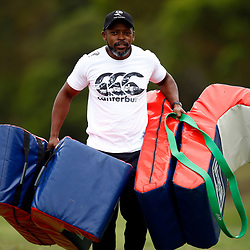 Thulani Nteta (fitness Coach) of the Cell C Sharks during the Cell C Sharks training session from theBox Hill Rugby Union Football Club  RHL Sparks Reserve, Canterbury Rd & Middleborough Road, Box Hill VIC 3128. Melbourne,Australia 20 February 2020. (Photo Steve Haag Sports -Hollywoodbets)