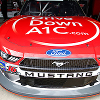 The car of Ryan Reed (16) sits in the garage during first practice for the OneMain Financial 200 at Dover International Speedway in Dover, Delaware.