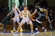 San Francisco Dons forward Remu Raitanen (11) plays defense against the San Francisco State University Gators at Kezar Pavilion in San Francisco, Calif., on December 6, 2016. (Stan Olszewski/Special to S.F. Examiner)