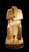 Seated figure of king Aramatelqo with hieroglyphic inscription Napatanisch, c. 550 BC grey Granite.