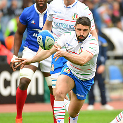 Tito Tebaldi of Italy during the Guinness Six Nations match between Italy and France on March 16, 2019 in Rome, Italy. (Photo by Dave Winter/Icon Sport)