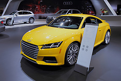11 February 2016: Audi TTS Coupe.<br /> <br /> First staged in 1901, the Chicago Auto Show is the largest auto show in North America and has been held more times than any other auto exposition on the continent.  It has been  presented by the Chicago Automobile Trade Association (CATA) since 1935.  It is held at McCormick Place, Chicago Illinois<br /> #CAS16
