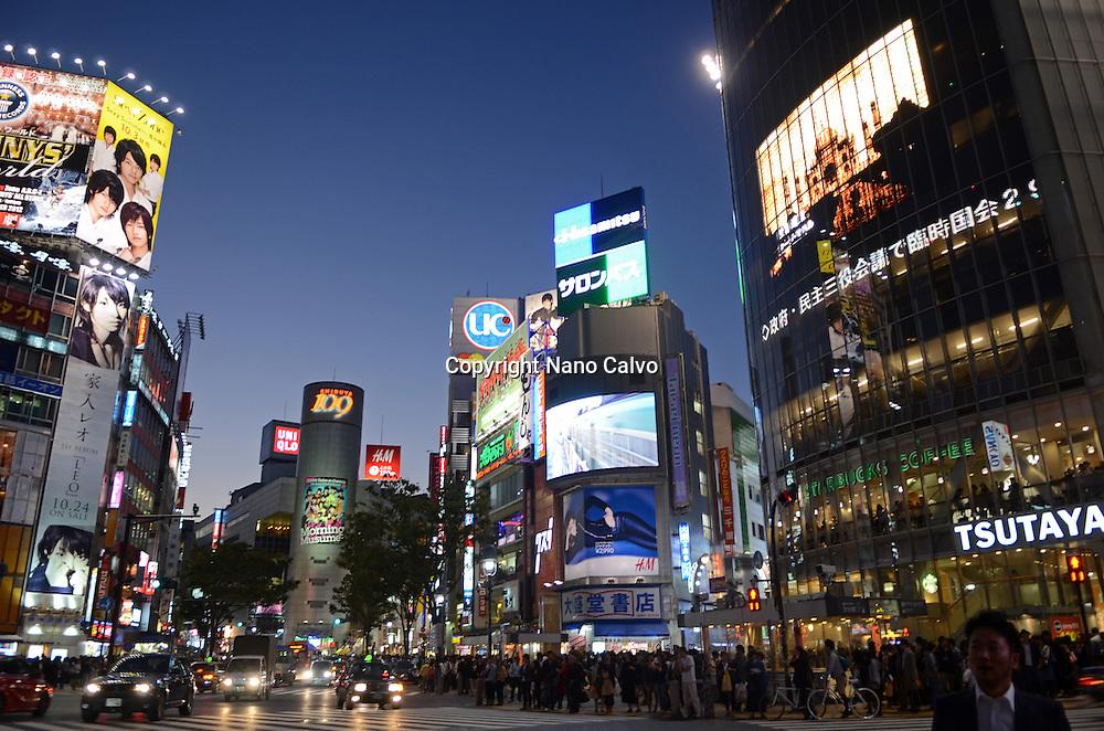 Shibuya at night, Tokyo
