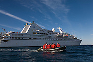 Antarctica. Le Diamant - cruise boat -  Of the compagnie des iles du Ponant   Robert point - shetlands archipelago, Antarctica   / bateau le DIAMANT, compagnie des iles du PONANT  Robert point - Shetlands archipel, Antarctica   TAR005