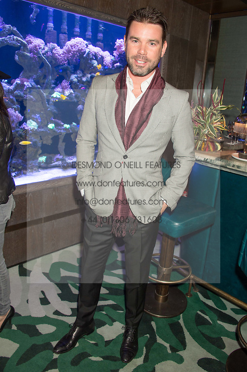 TV & Radio presenter DAVE BERRY at a party to celebrate the launch of the Lisa Snowdon jewellery collection for QVC held at Sexy Fish, Berkeley Square, London on 12th January 2016.