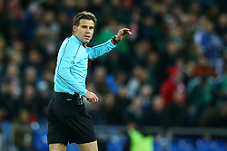 November 12, 2017 - Basel, Switzerland - The referee Felix Brych  during the FIFA 2018 World Cup Qualifier Play-Off: Second Leg between Switzerland and Northern Ireland at St. Jakob-Park on November 12, 2017 in Basel, Basel-Stadt. (Credit Image: © Matteo Ciambelli/NurPhoto via ZUMA Press)