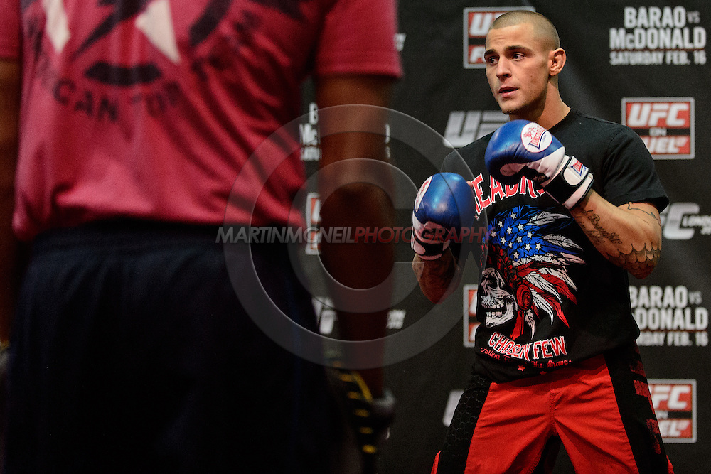 LONDON, ENGLAND, FEBRUARY 13, 2013: Dustin Poirier during the open work-out session for UFC on Fuel TV 7 inside London Shootfighters Gym in Park Royal, London, England on Wednesday, February 13, 2013 © Martin McNeil