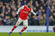 Arsenal forward Alexandre Lacazette (9) during the Premier League match between Chelsea and Arsenal at Stamford Bridge, London, England on 21 January 2020.