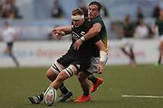 Rosario (ARGENTINA), June 12, 2019: Oliver Norris of New Zealand is tackled by James Mollentze of South Africa without the ball during the World Rugby U20 Championship match between New Zealand and South Africa at Hipódromo (Racecourse) Stadium, on Wednesday, June 12, 2019 in Rosario, Argentina. (photo by Pablo Gasparini/Photosport)