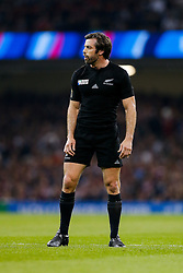 New Zealand Outside Centre Conrad Smith looks on - Mandatory byline: Rogan Thomson/JMP - 07966 386802 - 02/10/2015 - RUGBY UNION - Millennium Stadium - Cardiff, Wales - New Zealand v Georgia - Rugby World Cup 2015 Pool C.