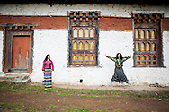 Youth having fun, Lhuntse, Bhutan, Asia