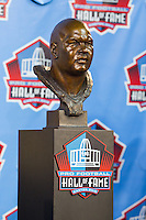 07 August 2010: Former New Orleans Saints linebacker  Rickey Jackson's hall of fame bust at his enshrinement ceremony at the Pro Football Hall of Fame in Canton, Ohio.
