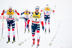 January 6, 2018 - Val Di Fiemme, ITALY - 180106 Didrik TÂ¿nseth of Norway and Hans Christer Holund of Norway compete in men's 15km mass start classic technique during Tour de Ski on January 6, 2018 in Val di Fiemme..Photo: Jon Olav Nesvold / BILDBYRN / kod JE / 160123 (Credit Image: © Jon Olav Nesvold/Bildbyran via ZUMA Wire)