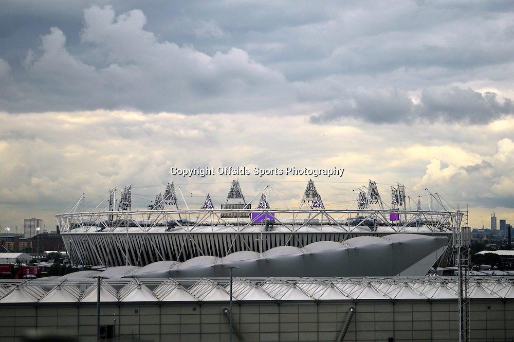 20/7/2012 Olympic Park. The Olympic Stadium from the viewing gallery at John Lewis department store.<br /> Photo: Offside / Tim reder.