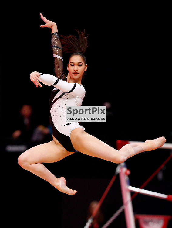 2015 Artistic Gymnastics World Championships being held in Glasgow from 23rd October to 1st November 2015..Stelutsa Savvidou (Cyprus) competing in the Floor Exercise competition....(c) STEPHEN LAWSON | SportPix.org.uk