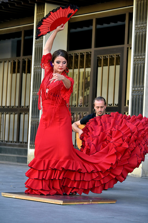Flamenco Dancer in Seville, Spain<br />