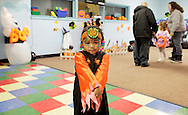 Middletown, New York  - A girl wears a costume during the Middletown YMCA Family Fall Festival on Oct. 29, 2011. ©Tom Bushey / The Image Works