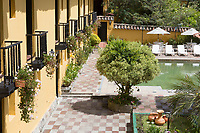 Paipa , Colombia  - February 14, 2017 : Hacienda Del Salitre hotel of Paipa Boyaca in Colombia South America