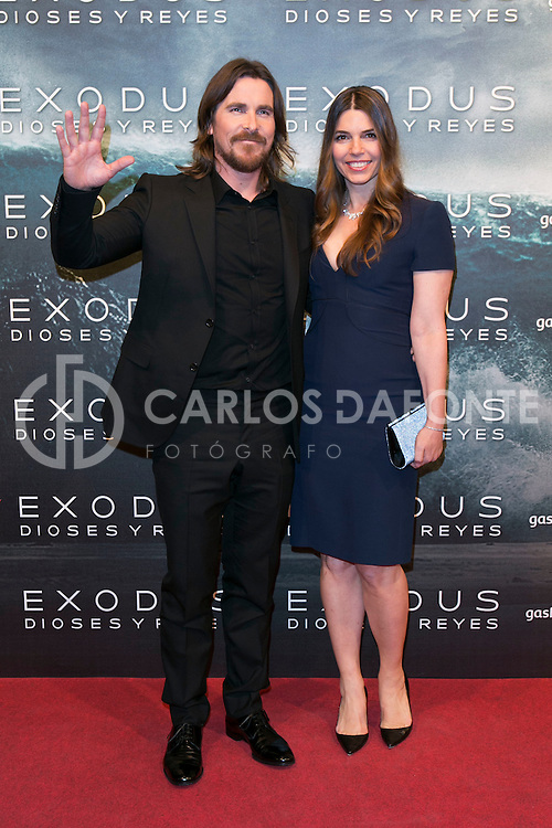 """Christian Bale attend the Premiere of the movie """"EXODUS: GODS AND KINGS"""" at callao Cinema in Madrid, Spain. December 4, 2014. (ALTERPHOTOS/Carlos Dafonte)"""
