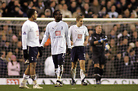 Photo: Paul Thomas.<br /> Tottenham Hotspur v Arsenal. Calring Cup, Semi Final 1st Leg. 24/01/2007.<br /> <br /> Dejected Spurs after arsenal draw level.