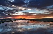 A Spring Sunset over a wetland on the Medano Ranch,San Luis Valley, Colorado