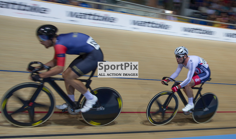Mark Cavendish rases in the Men's Omnium at ythe Revoultion Series 2015/6 Round 1 Derby, Day 2, on 15 August 2015 ( (Photo by Mike Poole - Photopoole)
