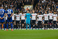 Football - 2016 / 2017 Premier League - Tottenham Hotspur vs. Leicester City<br /> <br /> Tottenham and Leicester players observe a minutes silence at the beginning of the game at White Hart Lane.<br /> <br /> COLORSPORT/DANIEL BEARHAM