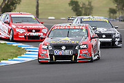 Garth Tander (Holden Racing Team) leads Todd Kelly and David Reynolds. Official Test Day of the 2011 V8 Supercar Championship Series. Eastern Creek International Raceway on Saturday 29 January 2011. Photo © Clay Cross / PHOTOSPORT