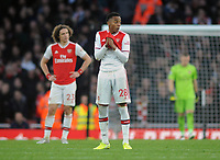 Football - 2019 / 2020 Premier League - Arsenal vs. Chelsea<br /> <br /> Joe Willock of Arsenal shows his despair after Chelsea's winning goal, at The Emirates.<br /> <br /> COLORSPORT/ANDREW COWIE