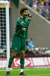 LONDON, ENGLAND - Saturday, May 17, 2008: Portsmouth's goalkeeper David James in action against Cardiff City during the FA Cup Final at Wembley Stadium. (Photo by Chris Ratcliffe/Propaganda)